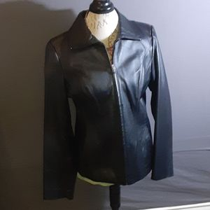 Size M east5th black leather jacket NWOT